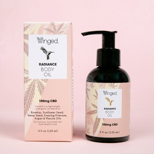 Winged Radiance Body Oil 4 fl oz (100mg CBD)