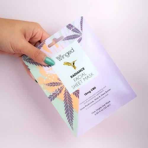 Winged Radiance Facial Sheet Mask 0.85 fl oz (15mg CBD)