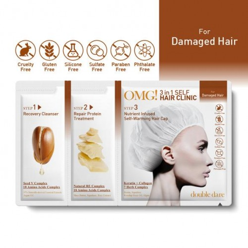 OMG! 3IN1 SELF HAIR CLINIC - For Damaged Hair