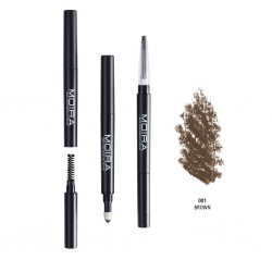 Moira 3 in 1 Perfect Brow ( 4 Colors) 001 Brown