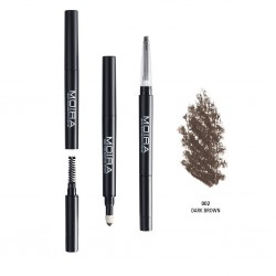 Moira 3 in 1 Perfect Brow ( 4 Colors) 002 Dark Brown