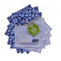 Entel Korean Essence Facial Mask Sheet 12 Type - Pack of 10 BlueBerry