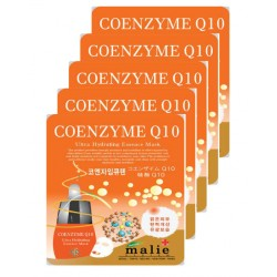Malie Ultra Hydrating Essence Facial Mask Sheets 16 Type - Pack of 10 Coenzyme Q10