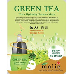 Malie Ultra Hydrating Essence Facial Mask Sheets 16 Type - Pack of 10 Green Tea