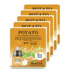 Malie Ultra Hydrating Essence Facial Mask Sheets 16 Type - Pack of 10 Potato