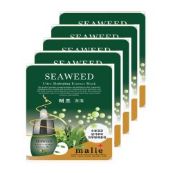 Malie Ultra Hydrating Essence Facial Mask Sheets 16 Type - Pack of 10 Seaweed