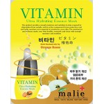 Malie Ultra Hydrating Essence Facial Mask Sheets 16 Type - Pack of 10 Vitamin