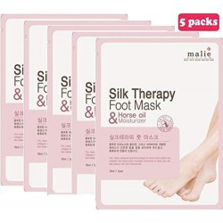 Malie Silk Therapy FOOT MASK Pack of 5