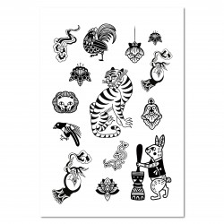 Tattist Temporary Tattoo Basic HANASTUDIO  Oriental