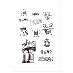 Tattist Temporary Tattoo Basic HANASTUDIO LoveampPeace