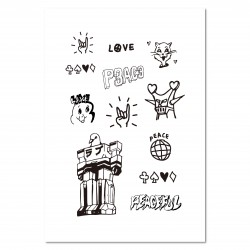 Tattist Temporary Tattoo Basic HANASTUDIO Love & Peace