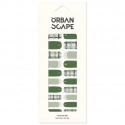 URBANSCAPE Premium Gel Nail Sticker - Check Line (6 Design) 14 Olivian Check
