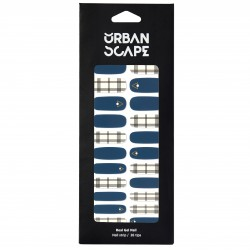 URBANSCAPE Premium Gel Nail Sticker - Check Line (6 Design) 15 Oreo Check