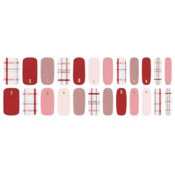 URBANSCAPE Premium Gel Nail Sticker - Check Line (6 Design) 11 Prague Check