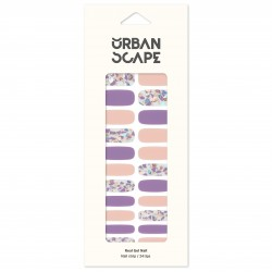 URBANSCAPE Premium Gel Nail Sticker - Pearl Line (7 Design) 06 Purple Macaron