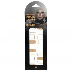 URBANSCAPE Premium Gel Nail Sticker - Shade Seoul Limited Edition (3 Design) 01 Midas Touch