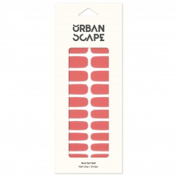 URBANSCAPE Premium Gel Nail Sticker - Color Line (Full) 38 Pink Coral
