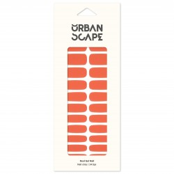 URBANSCAPE Premium Gel Nail Sticker - Color Line (Full) 39 Living Coral