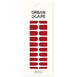 URBANSCAPE Premium Gel Nail Sticker - Color Line (Full) 40 Tokyo Red 3517c