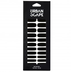 URBANSCAPE Premium Gel Nail Sticker - Color Line (Full) 49 Black C