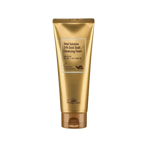 Pretty Skin Total Solution 24K Gold Snail Cleansing Foam