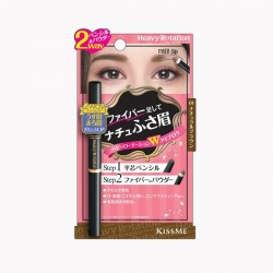 KissMe Heavy Rotation Fit Fiber in Double Eyebrow 01 Natural Brown