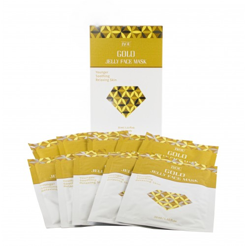 Gold Jelly Face Mask - 10 Pack