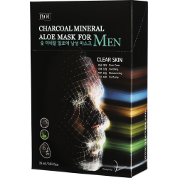 Charcoal Mineral Aloe Face Mask for MEN