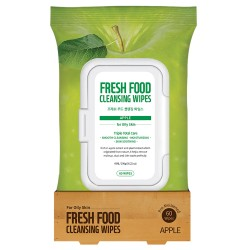 Farmskin Fresh Food Facial Cleansing Wipes _ Apple - For Oily Skin