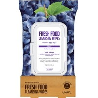 Farmskin Fresh Food Facial Cleansing Wipes _ Grape - For Sensitive Skin