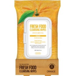 Farmskin Fresh Food Facial Cleansing Wipes _ Orange - For Normal Skin