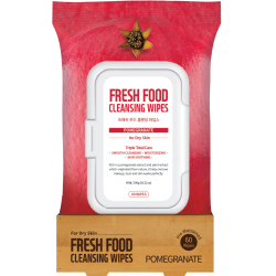 Farmskin Fresh Food Facial Cleansing Wipes _ Pomegranate - For Dry Skin