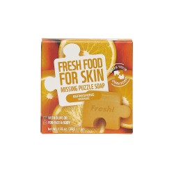 Farmskin Fresh Food For Skin Missing Puzzle Soap(Orange) (8pcs)