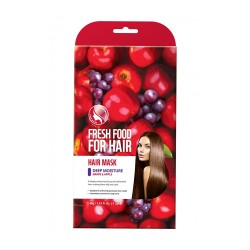 Farmskin Fresh Food For Hair Mask _ Deep Moisture - Grape & Apple (3PK)