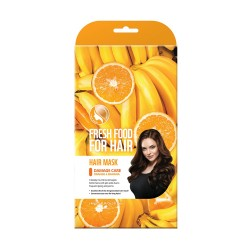 Farmskin Fresh Food For Hair Mask _ Damage Care - Orange & Banana (3PK)